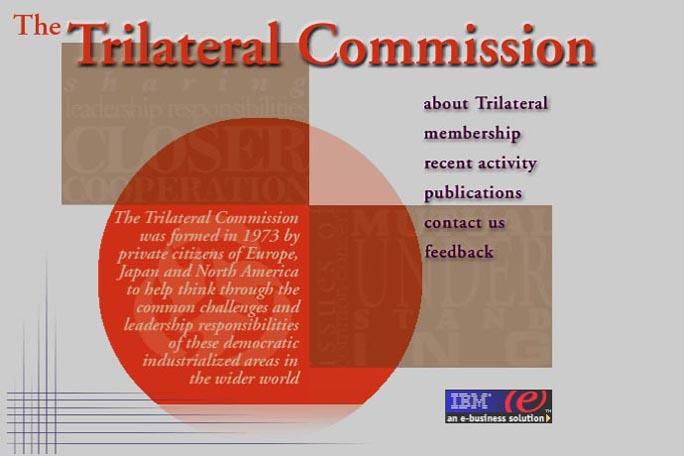 web design for a non-profit organization - the Trilateral Commission