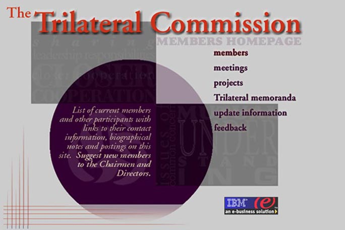 web design for a non-profit organization - intranet page