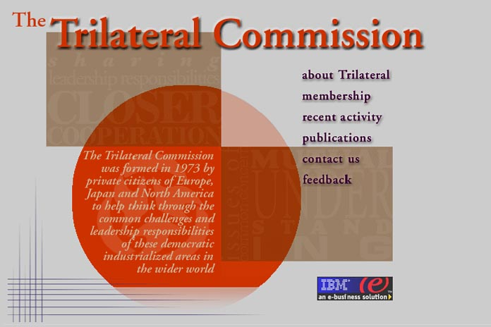 web design for a non-profit organization - the Trilateral Commission
