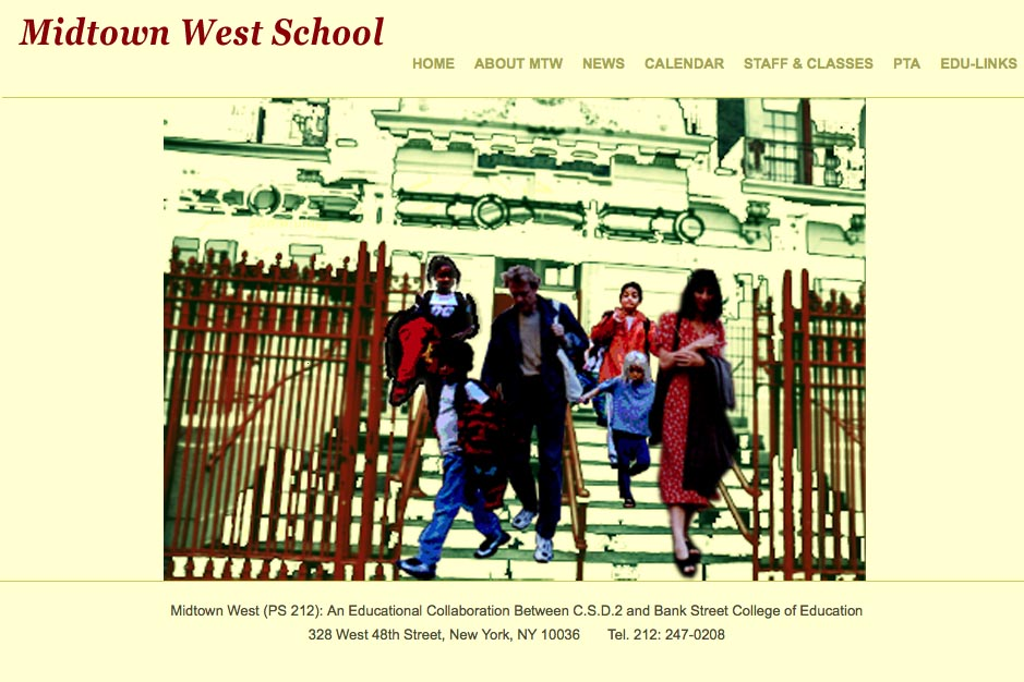 web design for a new york city elementary school