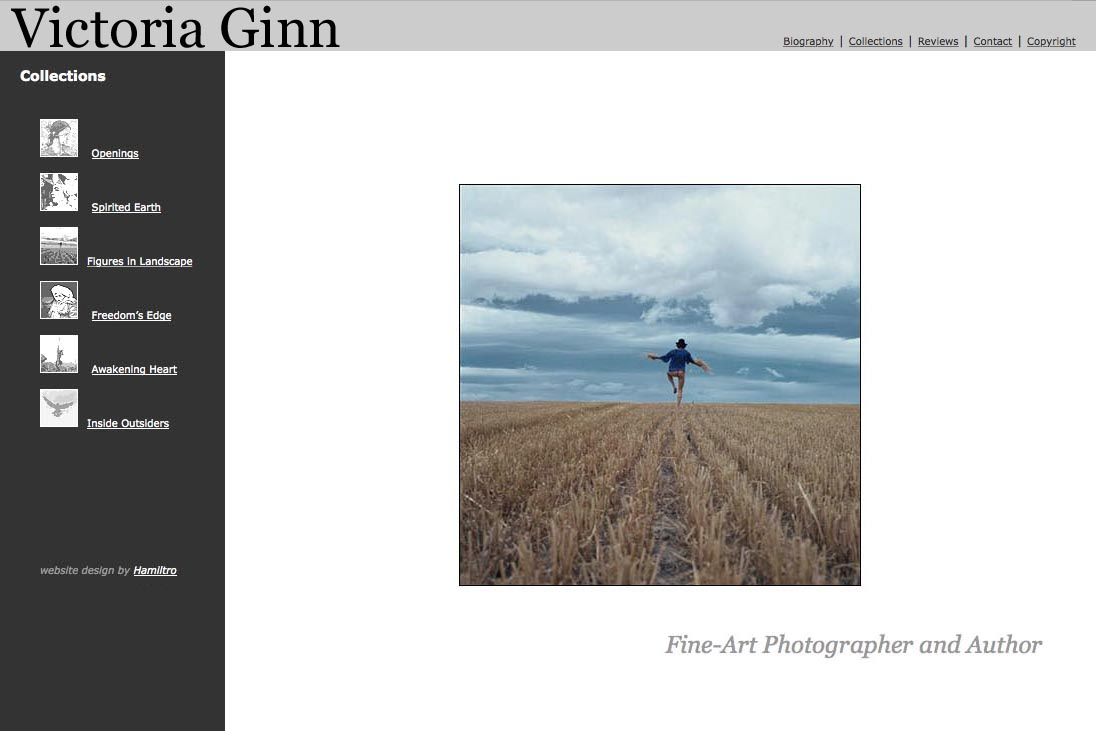 web design for an ethnographic photographer - Victoria Ginn