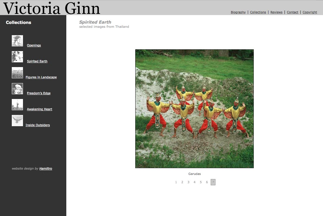 web design for an ethnographic photographer - Victoria Ginn - spirited earth Thailand page