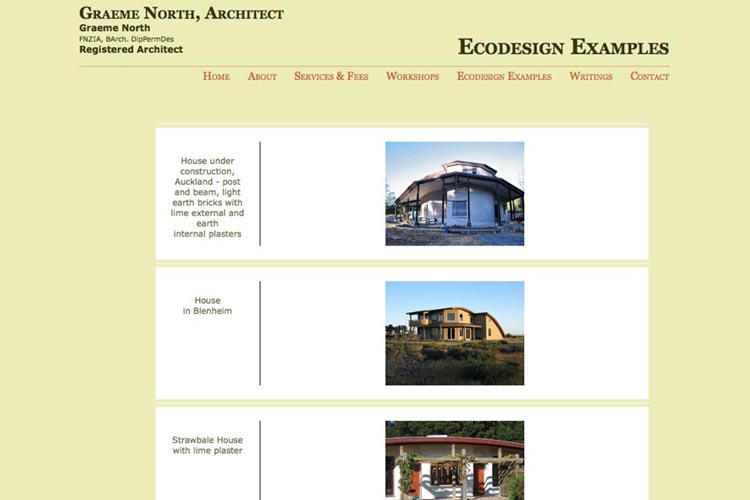 eco-architext website showing examples