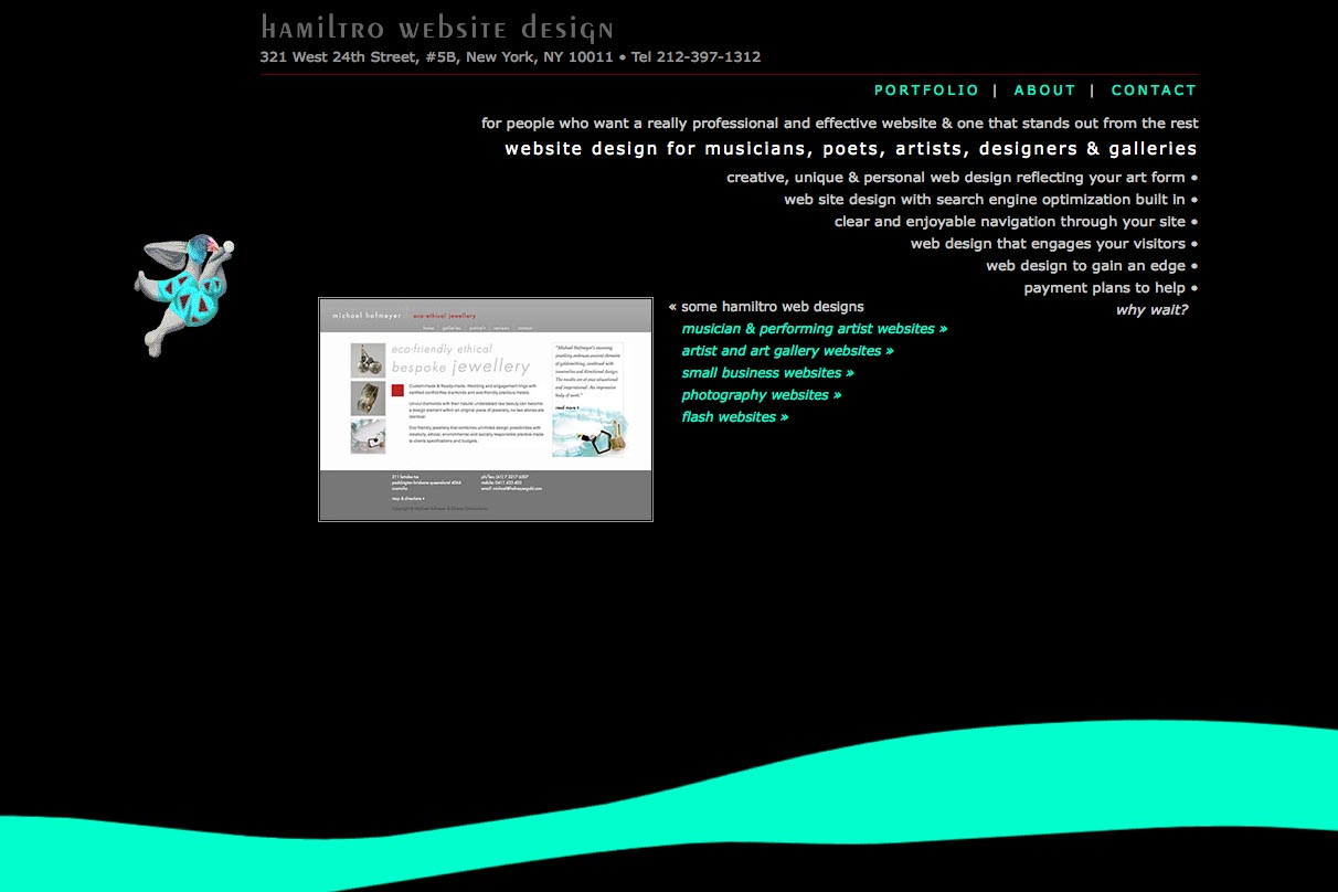 early web design for a web design company