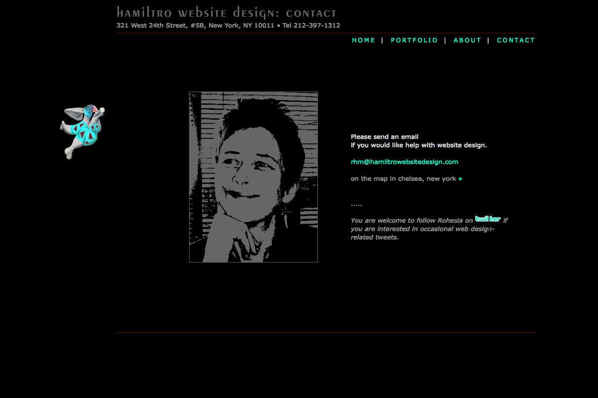early web design for a web design company - contact page