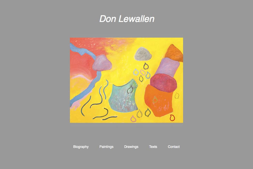 early web design for an abstract artist: Don Lewallen
