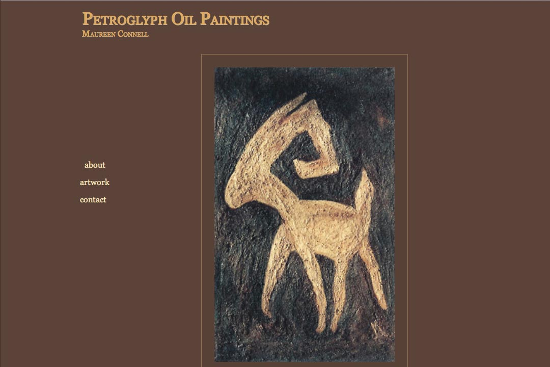 web design for an artist - petroglyph paintings