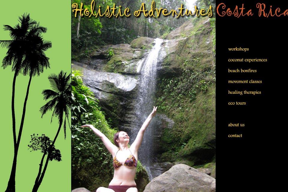 web design for a yoga resort in costa rica
