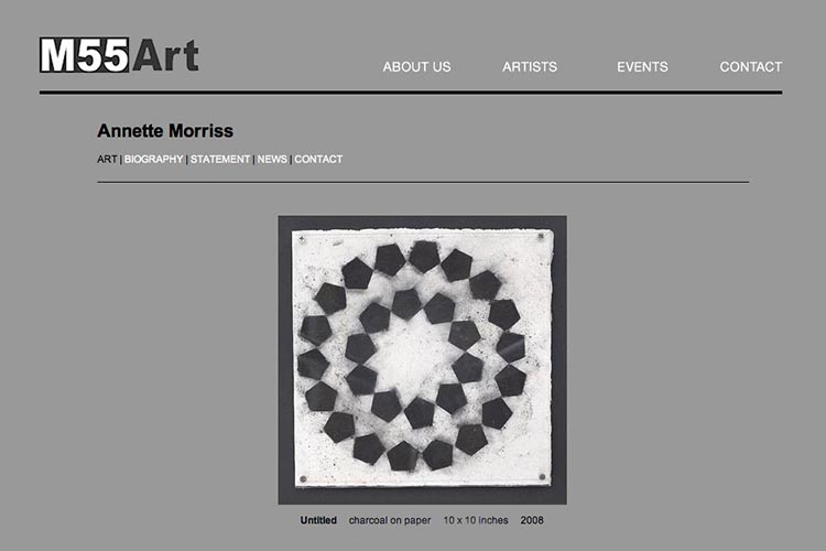 web design for an art gallery in New York - member single page