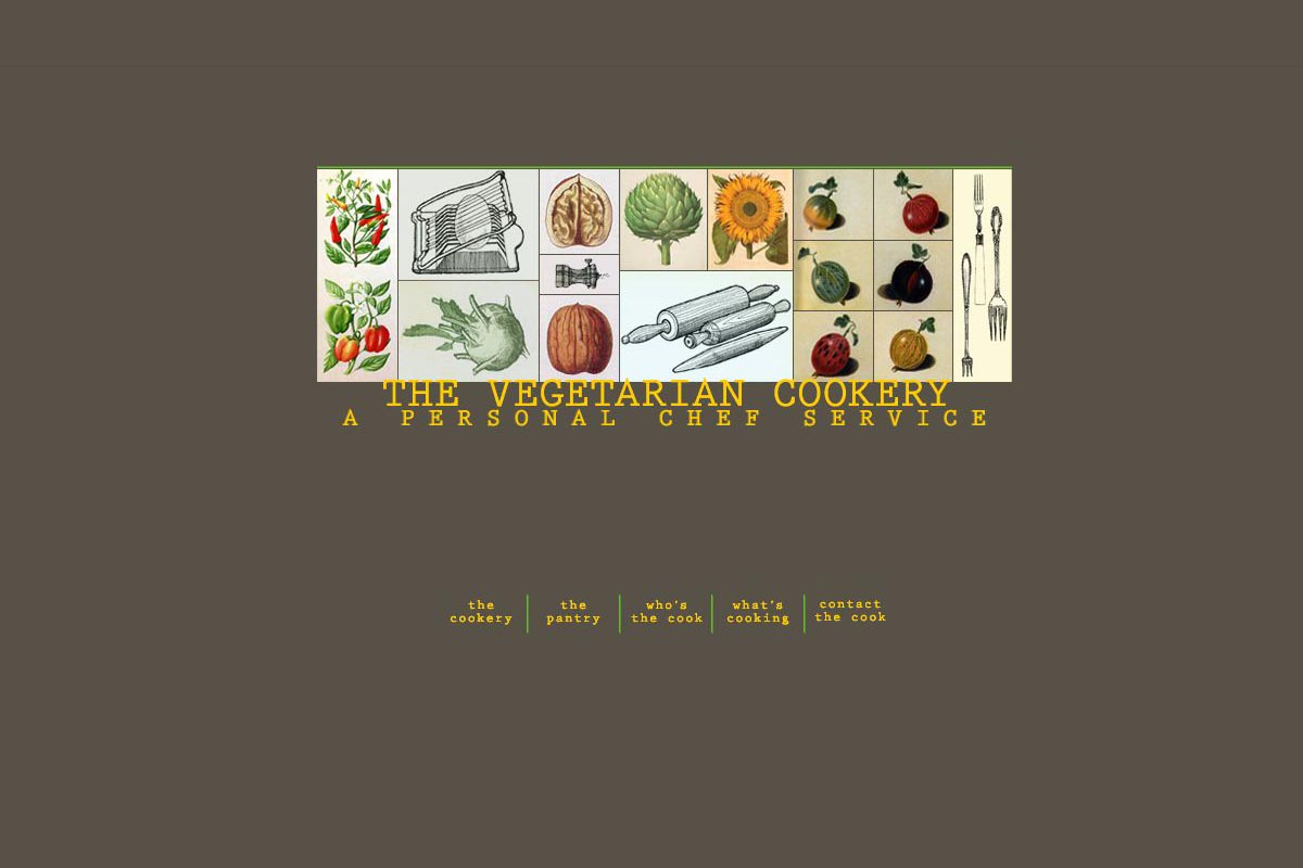 web design for a personal chef business - the vegetarian cookery - by Dania Gold Namdar