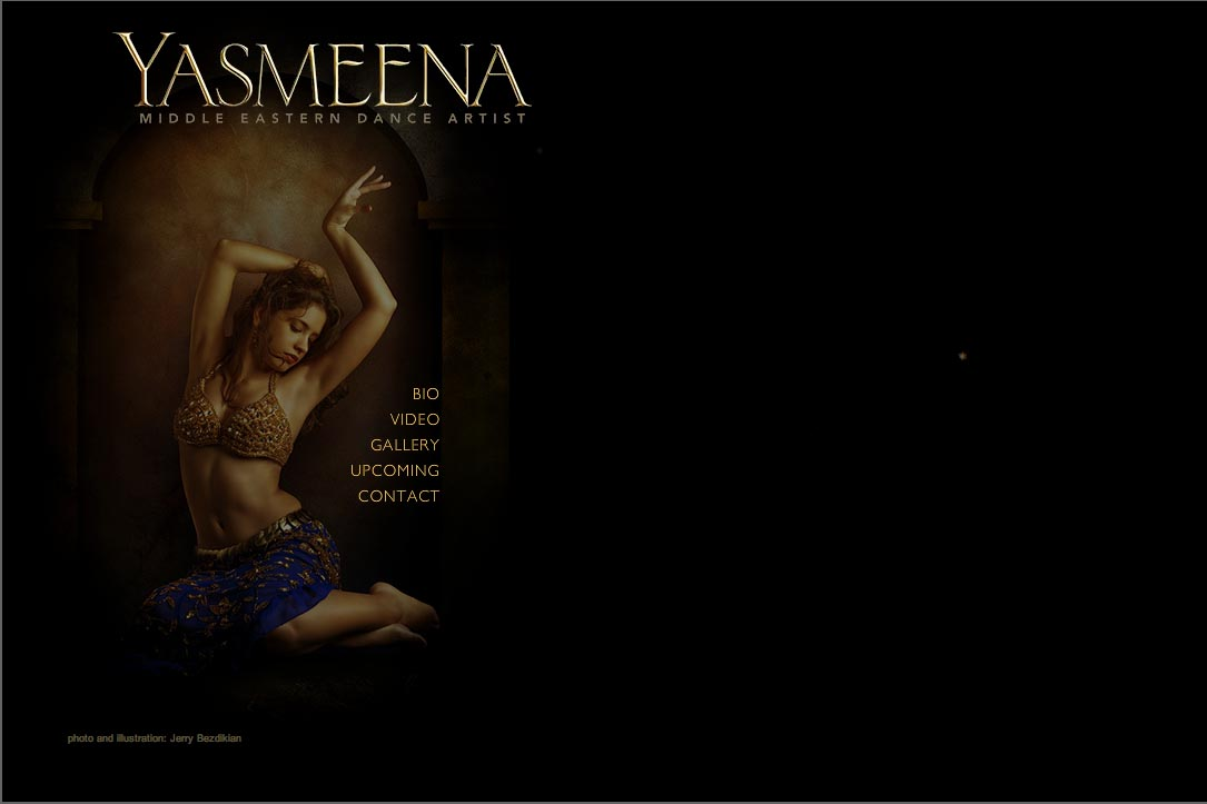 web design for a belly dancer in New York - Yasmeena - home2