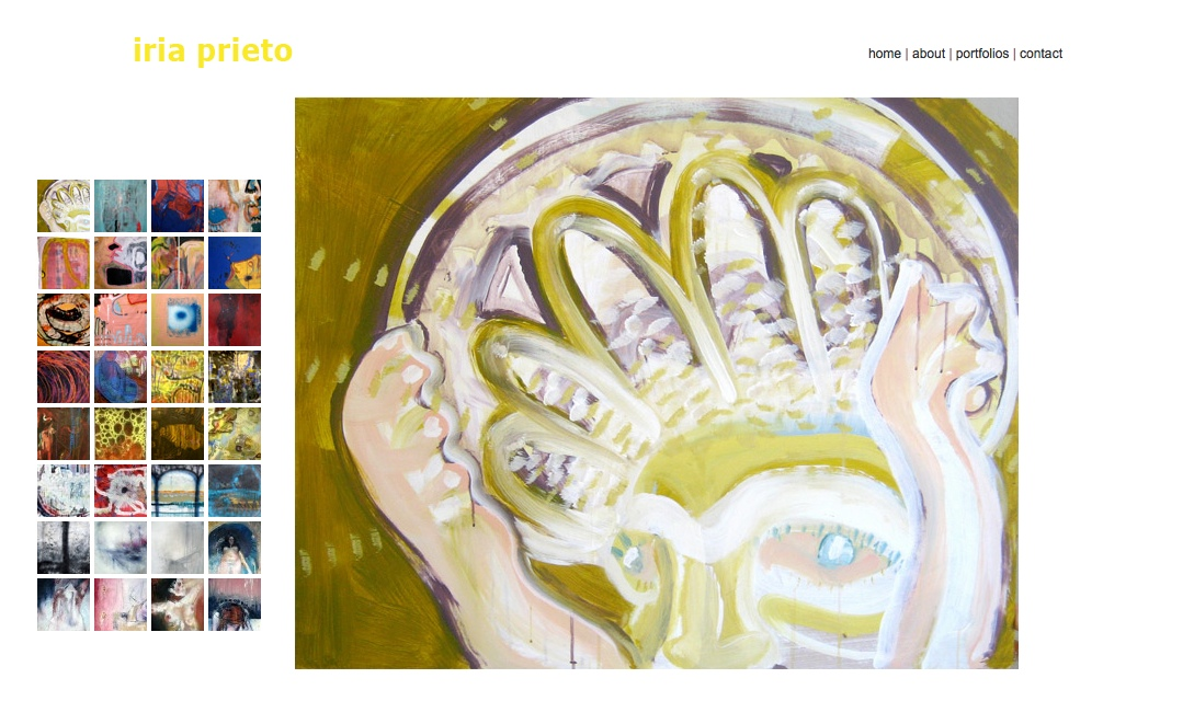web design for a young artist - paintings single page