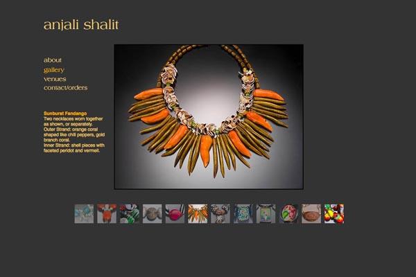 web design for a jeweler - Anjali Shalit