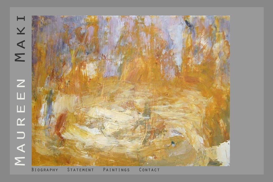 web design for an abstract artist - Maureen Maki - home page