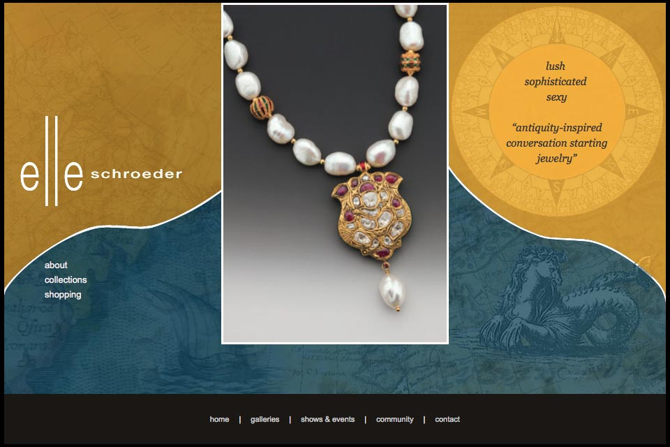 web design for a creative jeweler - Elle Schroeder