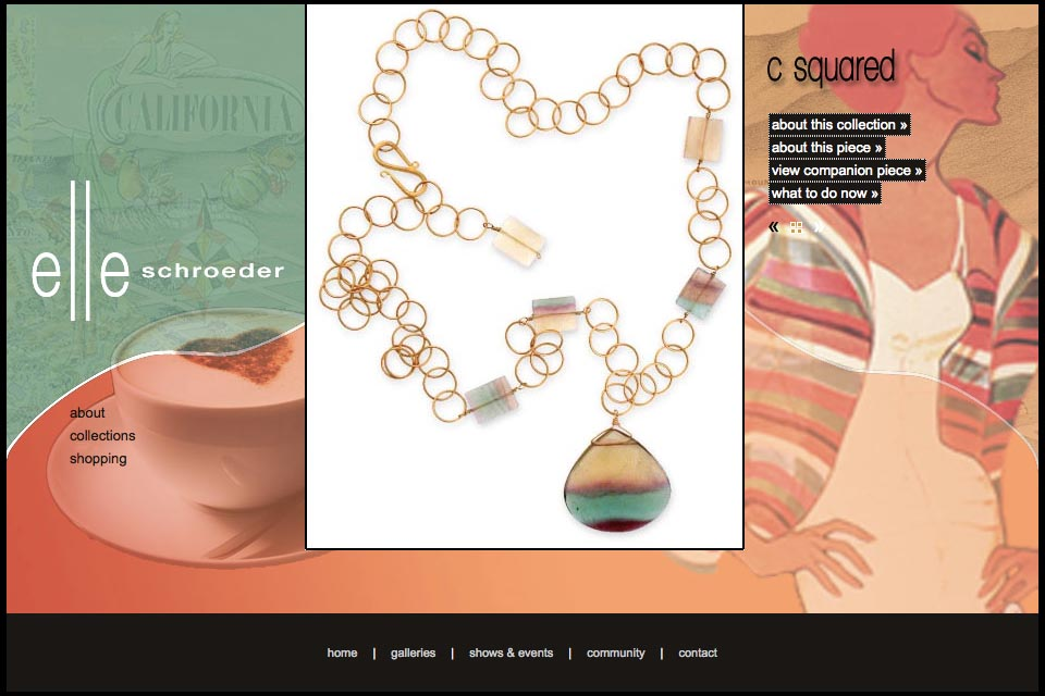 web design for a creative jeweler - Elle Schroeder - c-squared collection product page