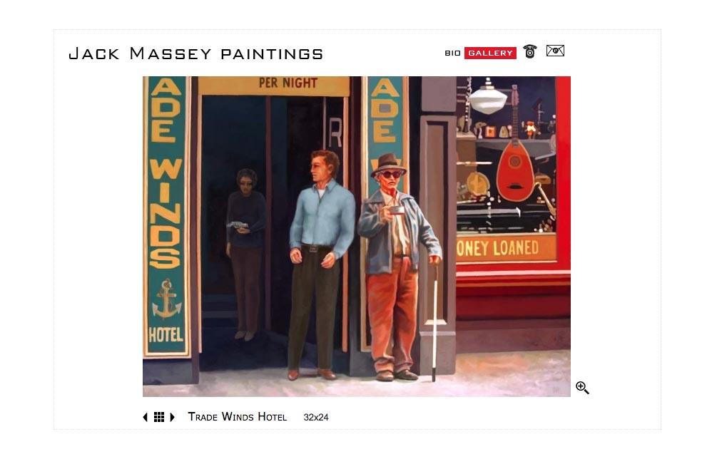 web design for a digital artist - Jack Massey - gallery single artwork page