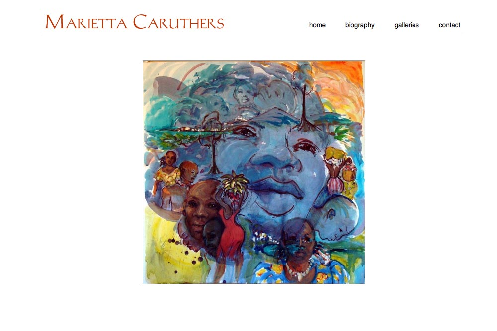 web design for a watercolor artist