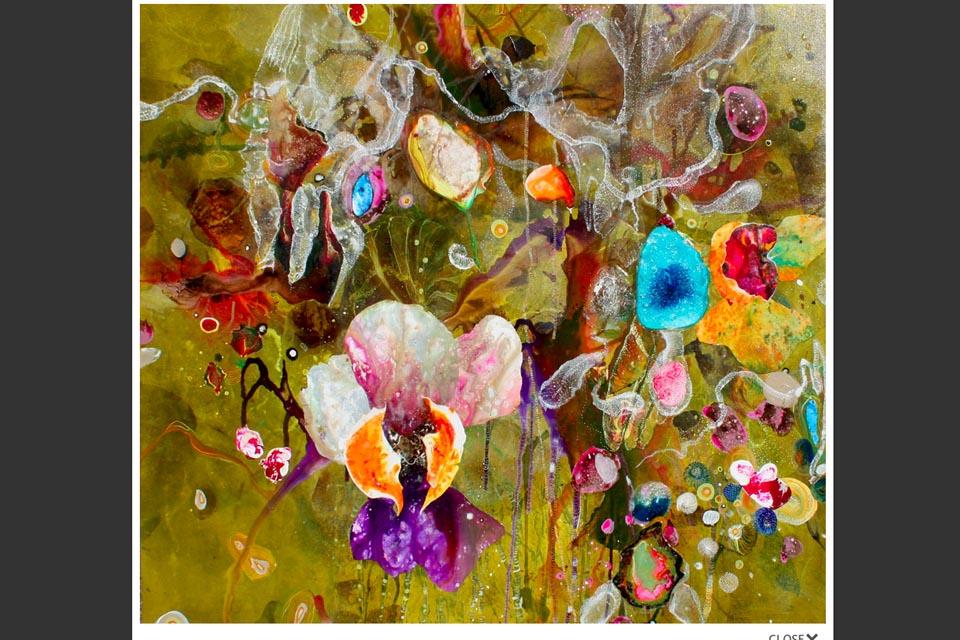 web design for a painter - Amanda Krantz - single painting page