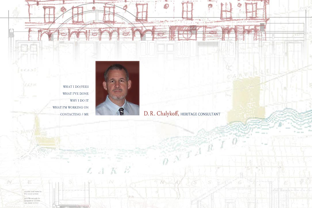 web design for an architectural heritage consultant - Dan Chalykoff