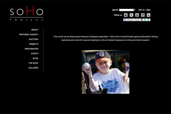 web design for a non-profit organization - soho project