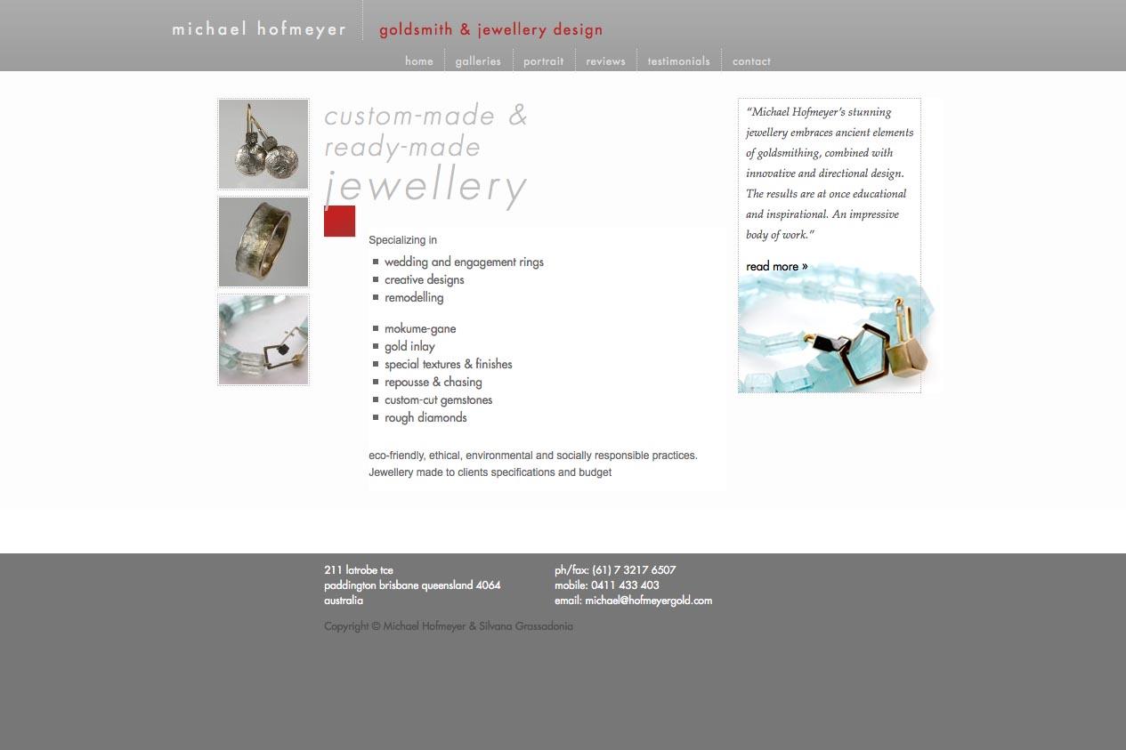 web design for an artisanal jeweler - Michael Hofmeyer
