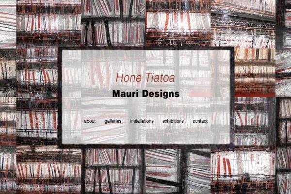 website design for a Maori artist