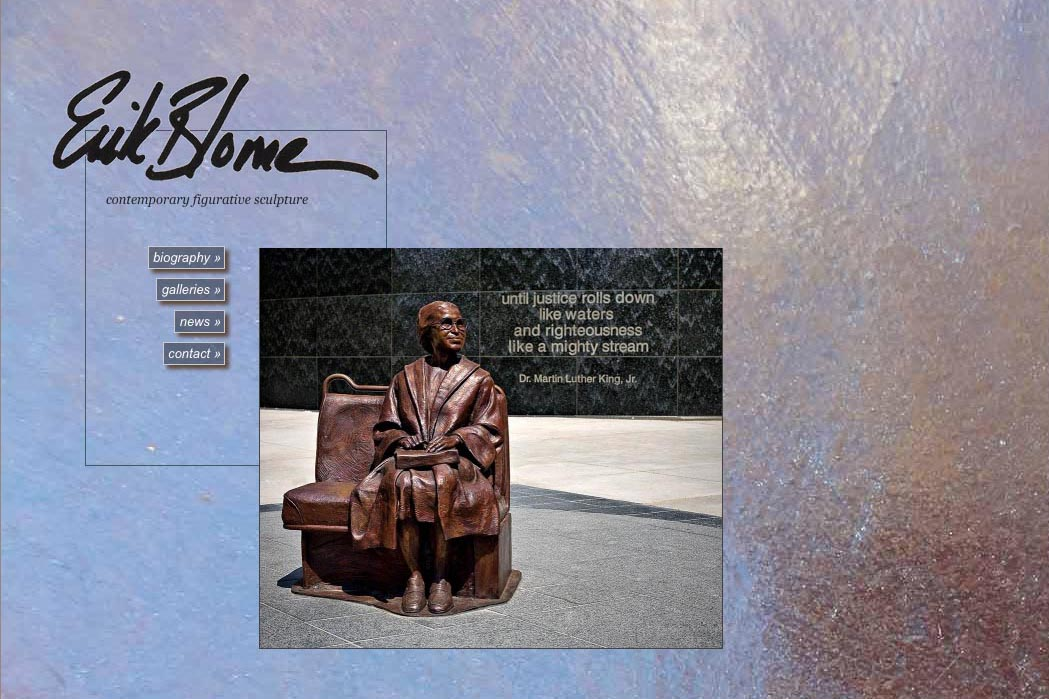 web design for a figurative sculptor