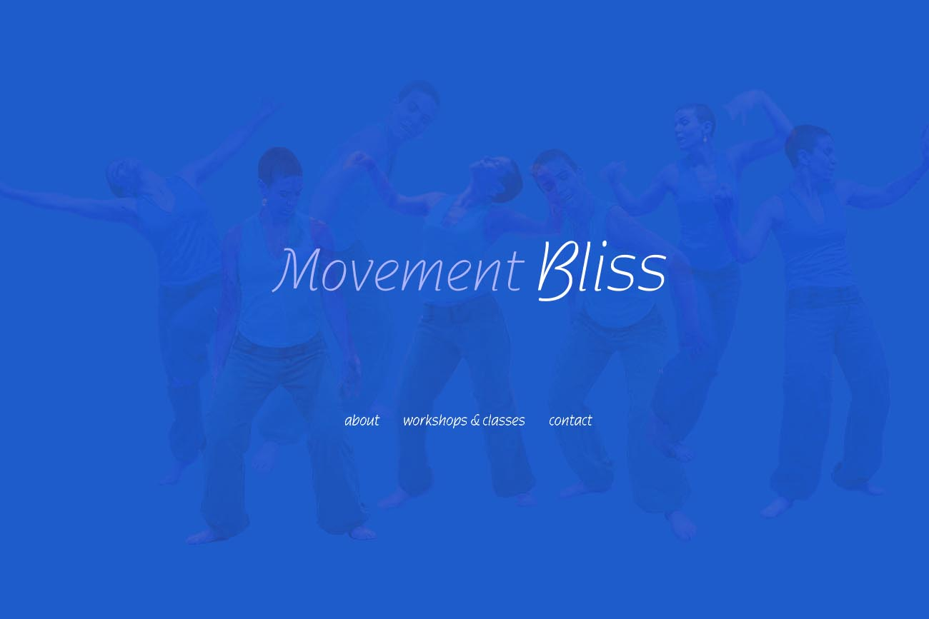 web design for a dancer and movement teacher