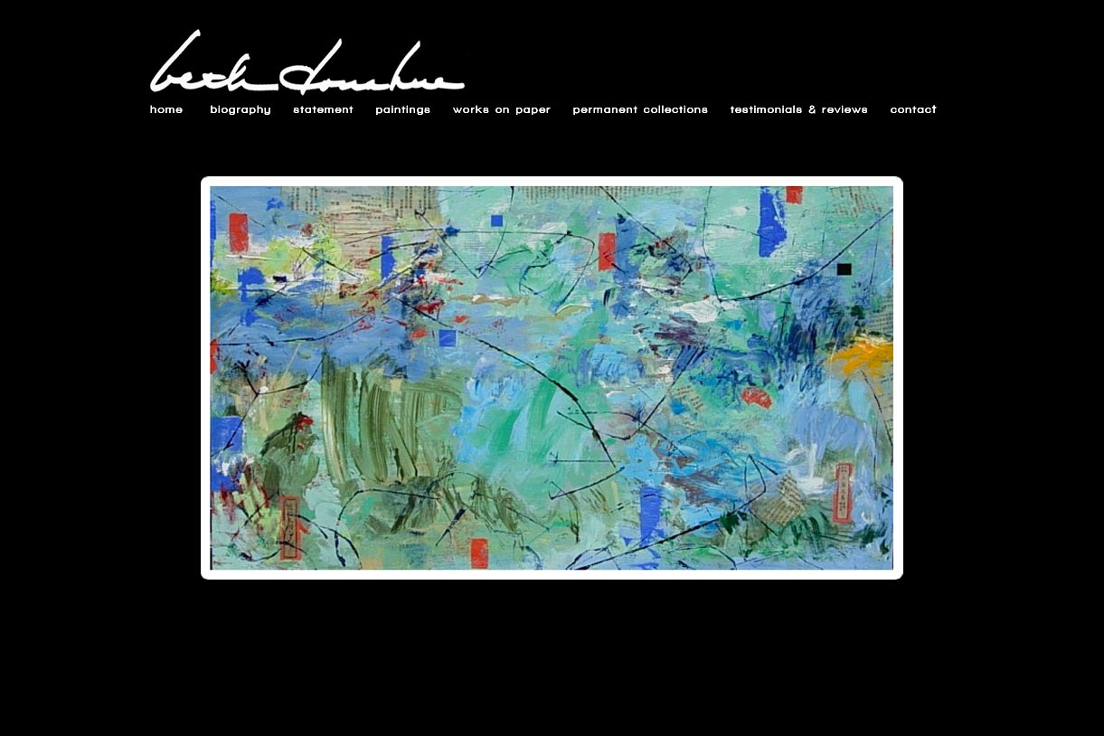 web design for an abstract artist