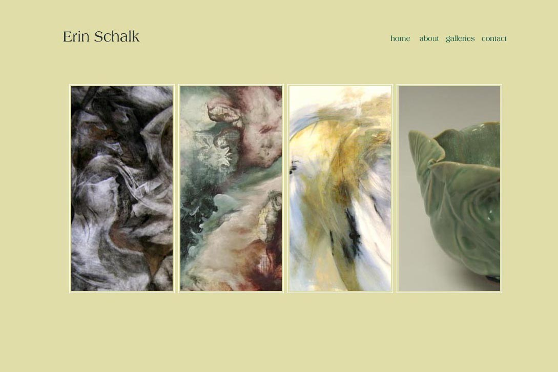 web design for a painter and ceramicist