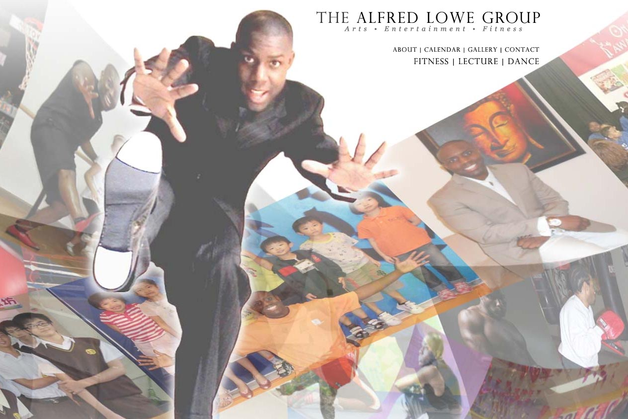 web design for a dancer, fitness coach and choreographer - Alfred Lowe