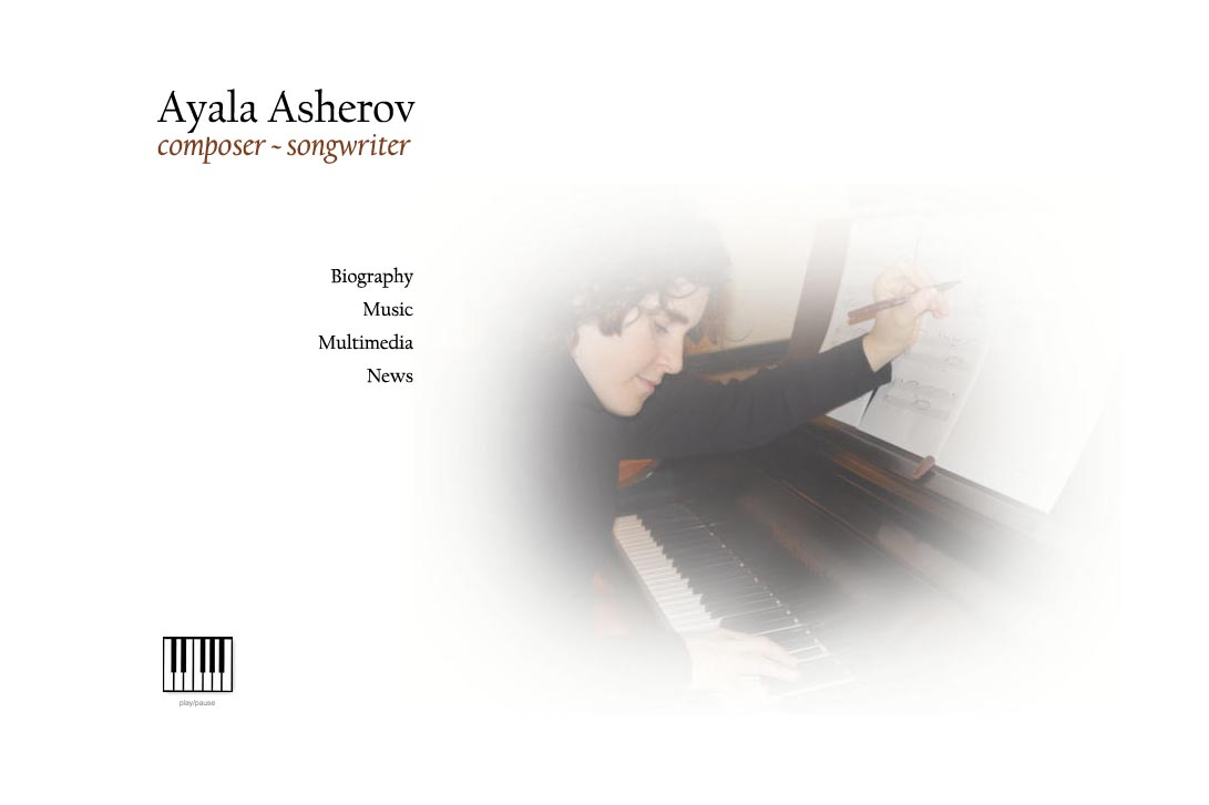 web design for a composer - by web designer for composers and artists, Rohesia Hamilton Metcalfe