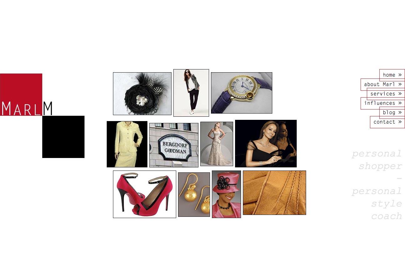 web design for a personal shopper - NMarl