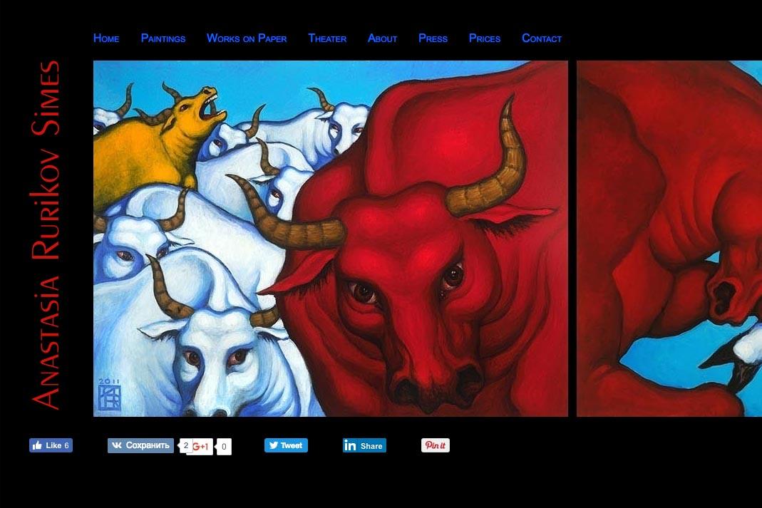 web design for a painter and theater designer  - Anastasia Rurikov Simes