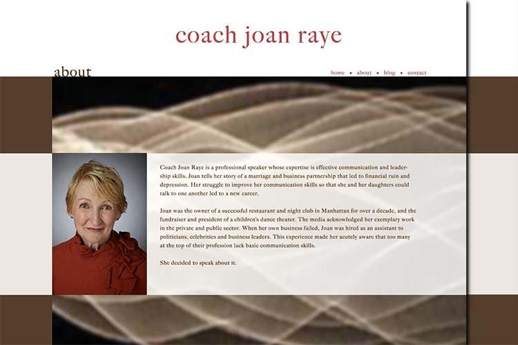 web design for a motivational coach