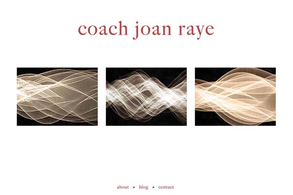 web design for a professional coach and speaker  - Joan Raye