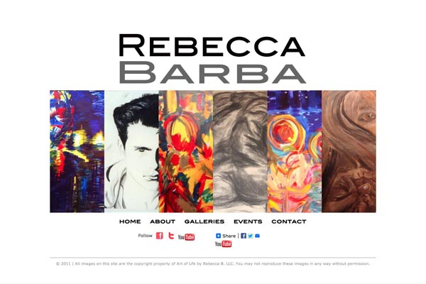 web design for a cuban-american artist