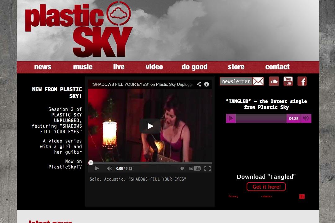 web design for a singer - Susane Asher