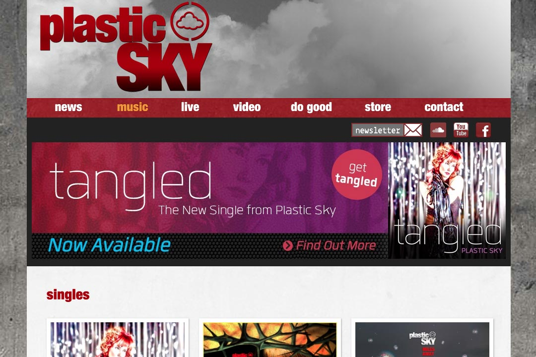web design for a singer - Susane Asher - music page
