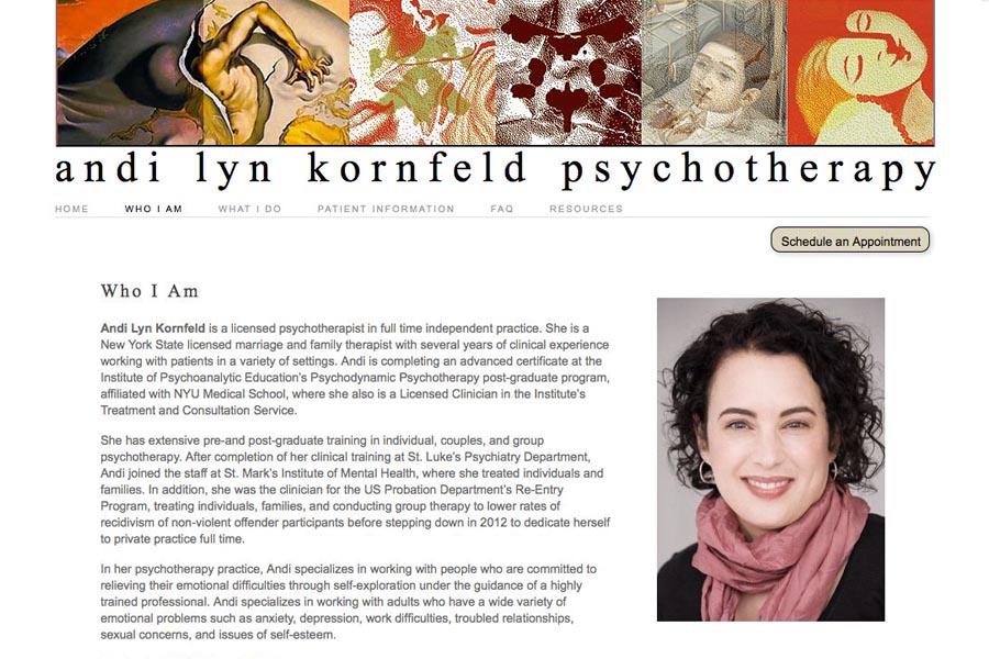 web design for a therapist