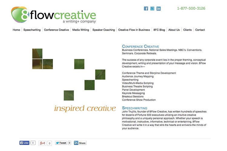 web design for a speaking coach and consultant - by web designer for creative professionals, Rohesia Hamilton Metcalfe