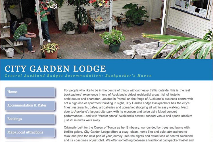 web design for an accommodation business