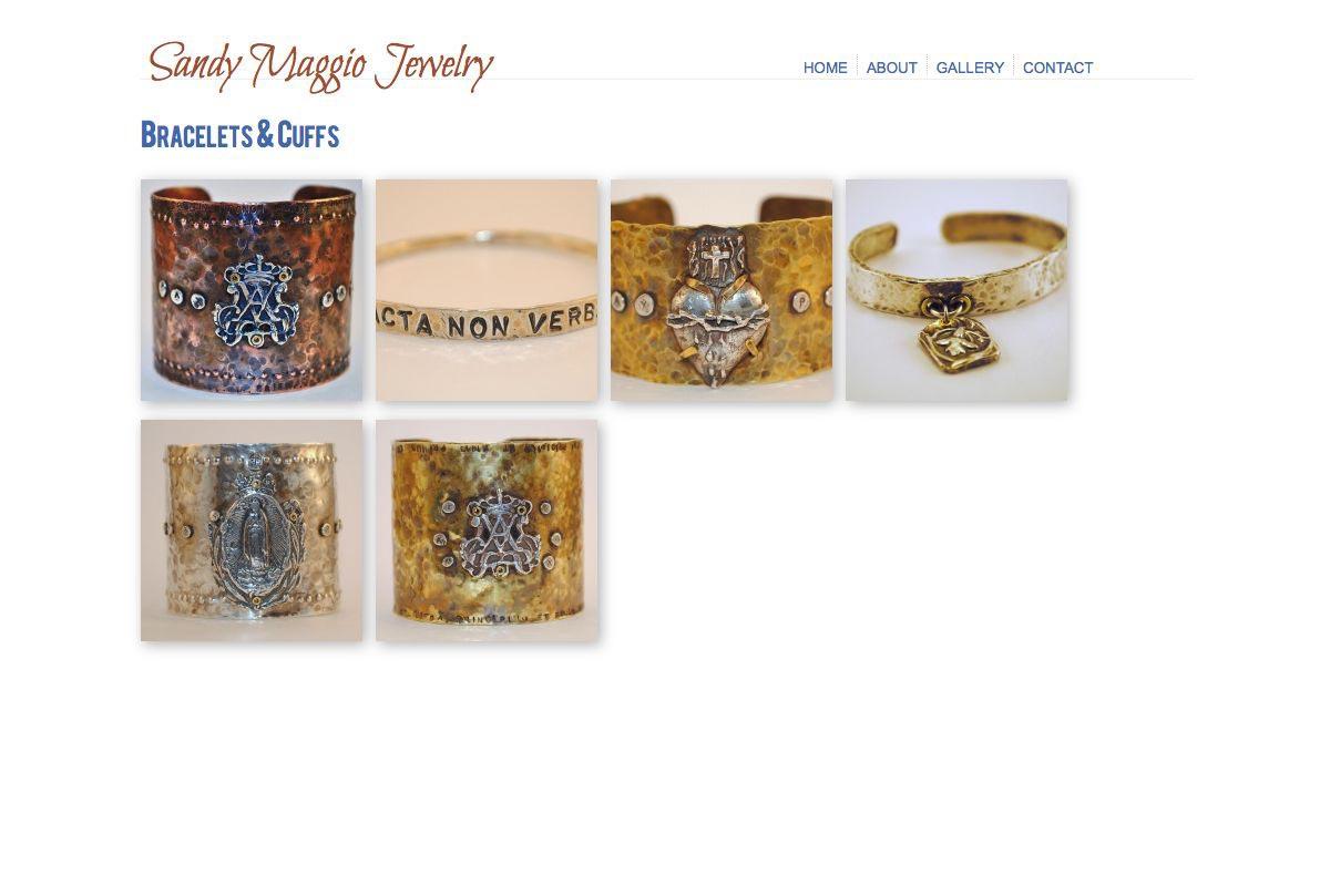 web design for an artisan-jeweler - gallery landing page
