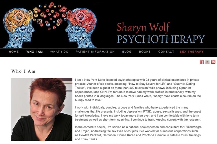web design for a psychotherapist