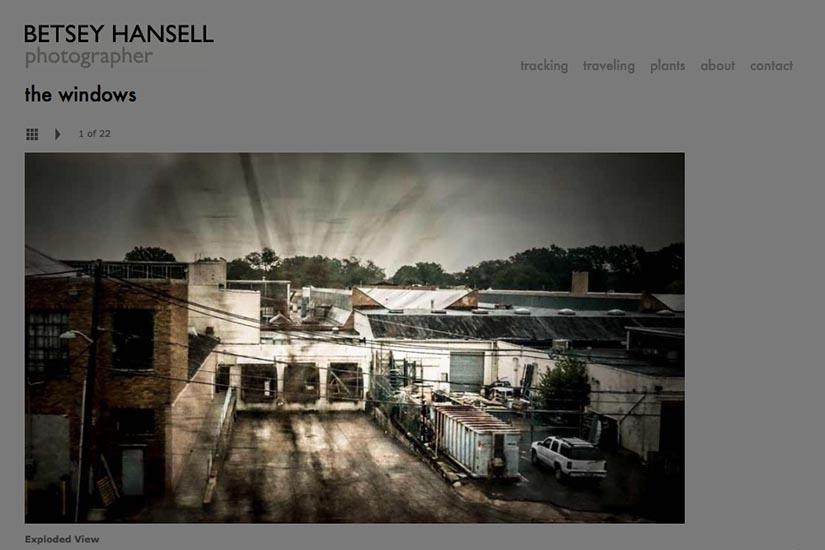 web design for a photographer - portfolio single page - windows