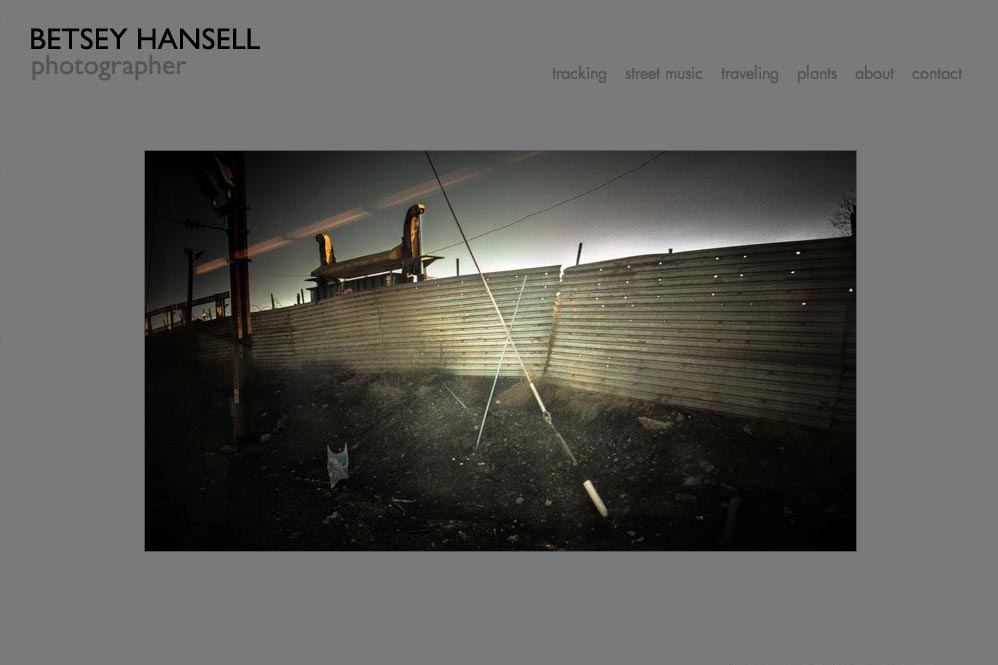 web design for a photographer - Betsey Hansell