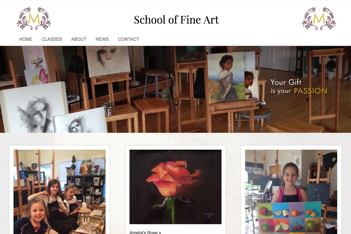 web design for an art school