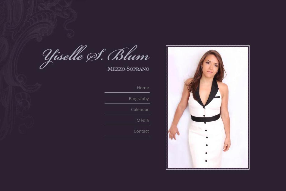 web design for an opera singer