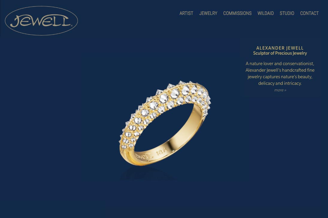 web design for an artisan-jeweler - Frank Alexander Jewell